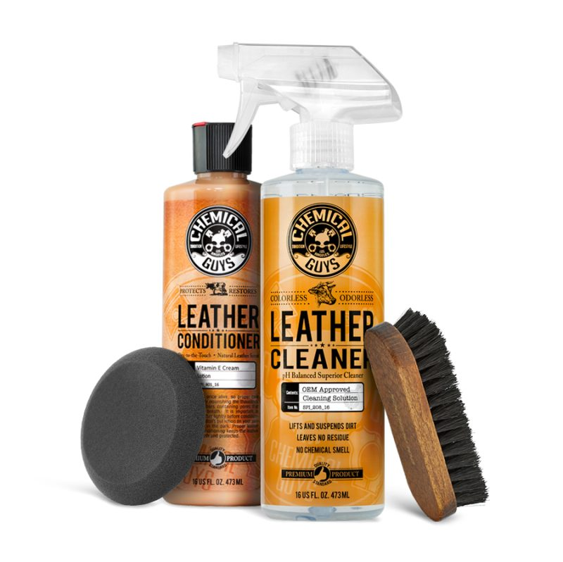 Chemical Guys Leather Cleaner & Conditioner Complete Kit